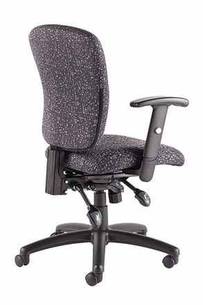 Talira Multifunction Task Chair with Adjustable Arms, Black [TL250FBK]