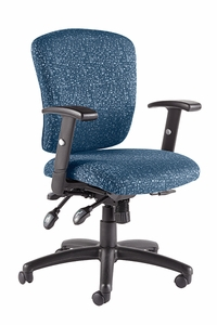 Talira Multifunction Task Chair with Adjustable Arms, Blue [TL250FBL]