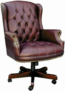 Traditional Button Tufted Executive Chair [B800]