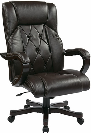 Bon Inspired By Bassett Traditional Eco Leather Executive Chair [BP CHTX EC9]