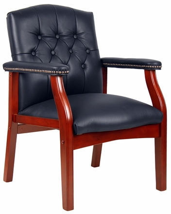 Traditional Hardwood Frame Visitors Chair [B959]