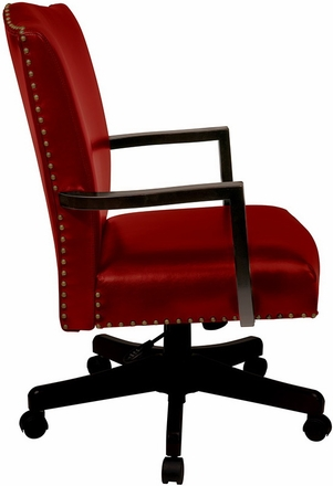 Office Star Traditional Red Eco Leather Chair Chairs