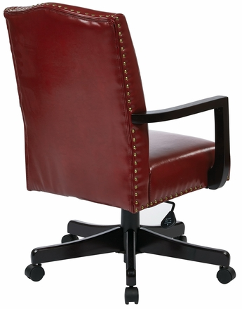eco office chair. INSPIRED By Bassett Traditional Red Eco Leather Office Chair [BP-MGTC-EC19] E