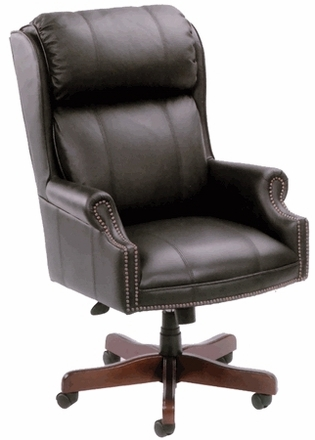 boss traditional wing back tufted office chair b980 in black