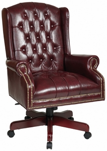 office star traditional wingback judges chair tex220|office chairs