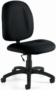Upholstered Armless Task Chair for Small Desks OTG11650 Free