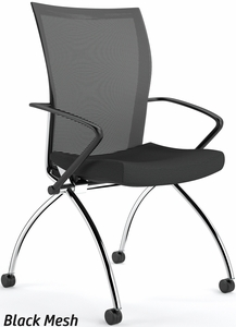 Mayline Valore High Back Mesh Folding Chair With Arms Tsh1