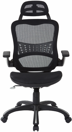 Vertical Matrix Chair with Nylon Arms and Headrest [69906HR-3]