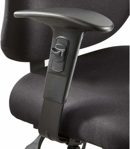 Vue™ Intensive-Use Task Chair Adjustable Width Arm Kit Black Set [3399BL]