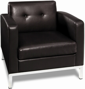 Ave Six Wall Street Faux Leather Armchair [WST51A]
