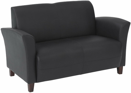 OSP Furniture® Wine Eco Leather Office Loveseat [SL2272]