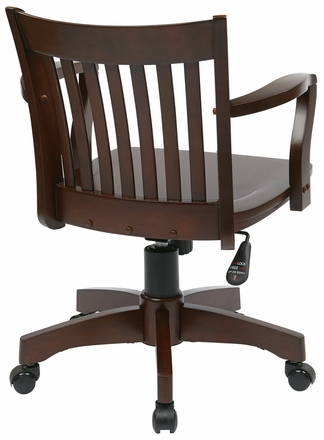 Osp Designs Wood Bankers Desk Chair 105fw