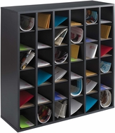 Wood Mail Sorter 36 Compartment Black [7766BL]