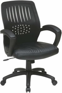 Work Smart™ Black Mesh Screen Back Designer Shell Chair [EM59722-EC3]