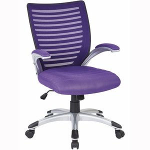 Work Smart™ Mesh Seat and Screen Back Managers Chair [EMH69096-512]