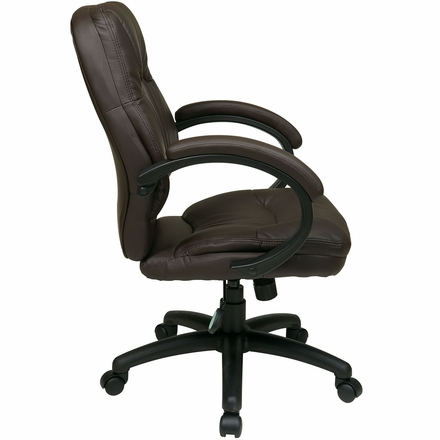 Work Smart™ Deluxe Chocolate Faux Leather Managers Chair [FL605-U2]