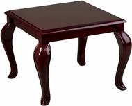 Work Smart� Mahogany Queen Ann Traditional End Table [TBB2020]