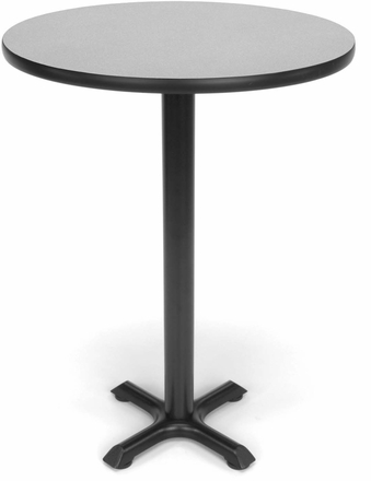 XPedestal Base Cafe Table Round Top XTCRD - Round metal cafe table