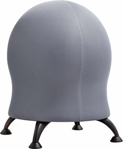 Zenergy™ Ball Chair Gray with Black Legs [4750GR]