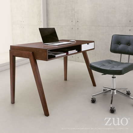 Zuo Linea Desk Walnut 199054