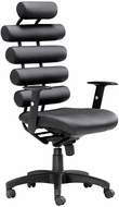Zuo Unico Office Chair Black Leatherette Painted Metal [205050]