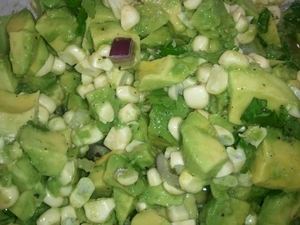 Avocado Salad with Meyer Lemon Olive Oil
