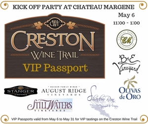 Creston Wine Trail VIP Passport - Purchase Your Passport Now!
