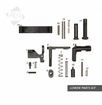 ALG Defense AR15/M4 Mil-Spec Lower Parts Kit (Less Trigger and Grip) (R)