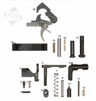 ALG Defense Complete AR15/M4 Mil-Spec Lower Parts Kit with ACT Trigger (Less Grip) (R)