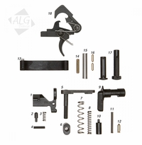 ALG Defense Complete AR15/M4 Mil-Spec Lower Parts Kit with QMS Trigger (Less Grip) (R)