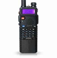 Baofeng Dual Band UV-5R Radio with 2 Extended Length 3800mAh Batteries