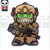 Epik Panda Shark Tooth (Operator Panda) PVC Patch