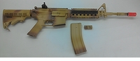 "BLOWOUT Airsoft Gun - ICS M4A1 RIS - ""Custom"" Camo Paint Job- 400 FPS upgrade - Great Condition - Very Little Use"