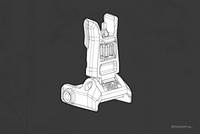 Magpul MBUS Pro - Back-Up Sight – Front (R)
