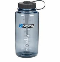 .Nalgene Tritan Wide Mouth 32 oz. Grey w/ Black Lid