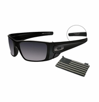 Oakley SI Fuel Cell Matte Black Steel Flag - Black Iridium Lens