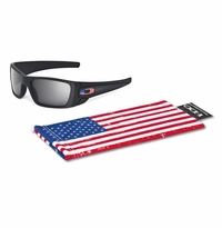 Oakley SI Fuel Cell Matte Black US Flag Icon - Grey Lens
