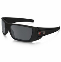 Oakley SI Fuel Cell Thin Red Line Satin Black - Black Iridium Lens