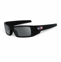 Oakley SI Gascan Matte Black - US Flag - Icon Grey Lens
