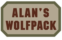 Clearance OPT Alan's Wolfpack Patch