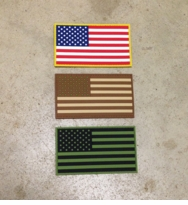 OPT Large PVC US Flag Patch 3 x 5 inch