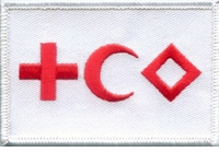 OPT Red Cross - Red Crescent - Red Diamond Patch