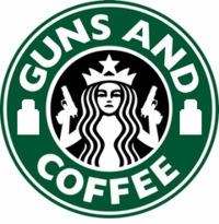 OPT The Original Guns and Coffee Patch - Large