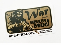 OPT War Drug Sticker