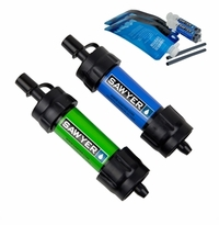 Sawyer Mini Water Filtration System Blue/Green Twin Pack