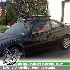 1992 Acura Integra Bike Roof Rack & Wind Fairing using Thule 409 Acura Rack, 598 Criterium & 871XT Deflector