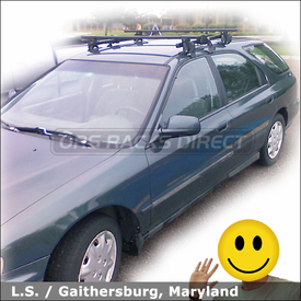 1996 Honda Accord Wagon Roof Rack with Thule 400XT Aero System & 477 Short Roof Adapter