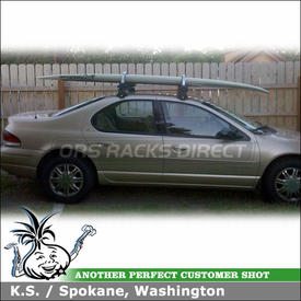 1998 Chrysler Cirrus Roof Rack Board Locker using Yakima Q Towers, Q48 Clips & Inno INA444