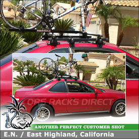 1998 Honda Prelude Coupe Car Bike Rack for Short Roof