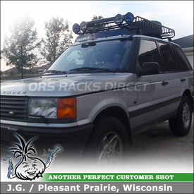 1999 Land Rover Range Rover Roof Rack & Cargo Basket with Yakima Q Towers, MegaWarrior and FatCat 6